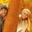 Happy couple in the park — Stock Photo #14036424