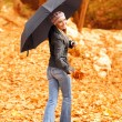 Young lady with umbrella — Stock Photo #14038102