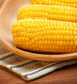 Sweetcorn on the plate — Stock Photo