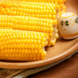 Corncob on the plate — Stock Photo #14058459