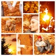 Autumn fun outdoor — Stock Photo