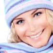 Happy girl in winter hat — Stock Photo #14229771