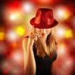 Stylish disco girl — Stock Photo #15067065
