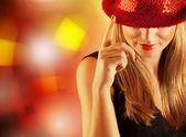 Mujer hermosa bailarina — Foto de Stock