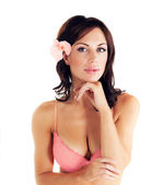 Girl wearing pink bra — Stock Photo