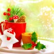 Christmas utensil set — Stock Photo