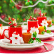 Christmas dinner decoration — Stock Photo