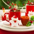Christmas table setting — Stock Photo #15828311