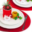 Stock Photo: Christmastime table setting