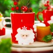 Stock Photo: Christmastime decoration for dinner