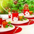 Christmas table setting — Stock Photo