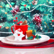 Stock Photo: Christmas eve table decoration