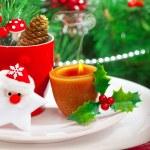 Romantic Christmastime dinner — Stock Photo #15830515