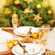 Royalty-Free Stock Photo: Christmas table setting