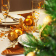 Christmas table setting — Stock Photo #15830781