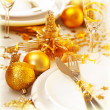 Stock Photo: Christmas table setting still life
