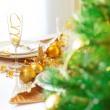 mesa de Navidad — Foto de Stock