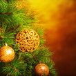 Traditional Christmas tree — Stock Photo