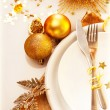 Luxury Christmas table setting — Stock Photo