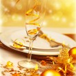 Luxury festive table setting — Stock Photo