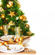 Christmas dinner border — Stockfoto