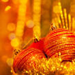Christmas decoration still life — Stockfoto