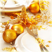 Christmas table setting still life — Stock Photo