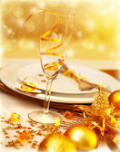 Luxury festive table setting — Stock Photo