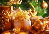 Luxusní nový rok dárky — Stock fotografie