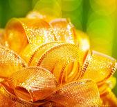Golden bow border — Stock Photo