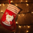 Traditional Christmas sock — Stock Photo