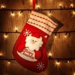 Red Christmas sock — Stock Photo