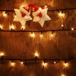 Christmas festive background — Stock Photo