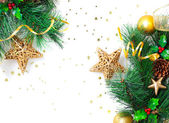 Christmastime border — Stock Photo