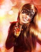 Woman wearing mask — Stock Photo