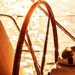 Sailboat helm — Stock Photo