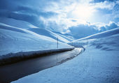 Snowy highway — Stock Photo