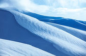 Mountains covered snow — Foto Stock