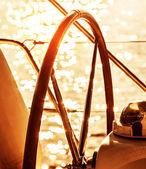 Timón de barco de vela — Foto de Stock