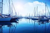 Sailboat port — Stock Photo