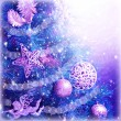 Christmas tree magic background — Stock Photo