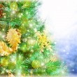 Christmas tree border — Foto Stock