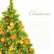 Christmas tree border — Stock fotografie