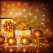 Christmas present boxes — Stock Photo #17232243