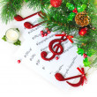 Christmas musical border — Foto de Stock