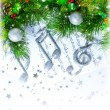 Stock Photo: Christmas treble clef