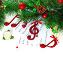 Christmastime treble clef — Stock Photo