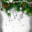 Xmas musical symbol - Stock Photo