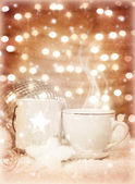 Christmastime coffee — Stock Photo