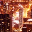 Dubai cityscape at night - Stock Photo